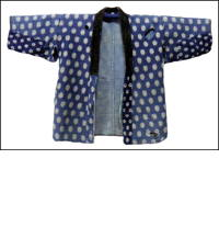 Boro Farmers Sashiko Kasuri Indigo Jacket  DIY Repair Project