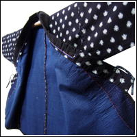Sashiko Lovers Only Lady Farmers Kasuri Indigo Jacket