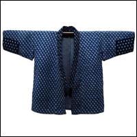 Extreme Sashiko Farmers Noragi Yukinko Kasuri Indigo Jacket