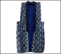 Vintage Cotton Kasuri Indigo Vest