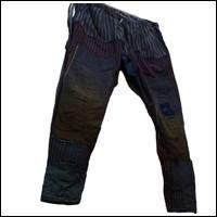 Indigo Cotton Boro Momohiki Worker Trouser Pants
