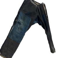 Very Nice Indigo Cotton Boro Momohiki Worker Trouser Pants