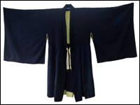 Japanese Mendicant Zen Monks Indigo Cotton Robe Hand Tailored