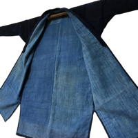 Japanese Farm Womans Solid Indigo Jacket Noragi