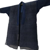 Delightful Old Indigo Hemp Handmade Farmer Jacket