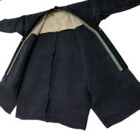 Fabulous Old Indigo Hemp Handmade Farmer Jacket