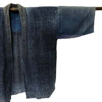 Fantastic Old Indigo Hemp Handmade Farmer Jacket