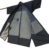 Nice Japanese Farmer Handmade Cotton Noragi Jacket Solid Dark IndigoExterior