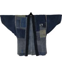 Boro Patchwork Farmers Indigo Cotton Noragi Jacket