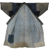 Boro Patchwork Farmers Indigo Cotton Noragi Long Jacket Kimono Lots Of Sashiko