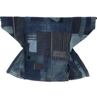 For Display Boro Patchwork Farmers Indigo Cotton Noragi Jacket