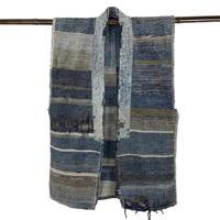 Exceptional Old Cotton Indigo Handmade Sakiori Vest
