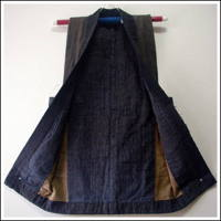 Farmers Indigo Cotton Vest  DIY Repair Project