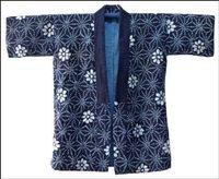 Indigo Shibori  Sashiko Farmers Jacket