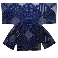 Tapestry Of Highly Decorative Sashiko Designs Handcrafted c1900 Garment