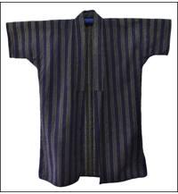 Shima Stripe Sashiko Cotton Sashiko Farmers Jacket