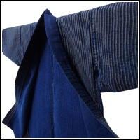 Farmers Stripe Indigo Jacket Subtle Sashiko