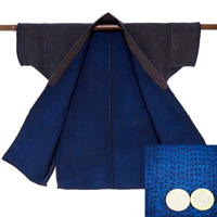 Fantastic Farmers Stripe Indigo Cotton Jacket Breathtaking Sashiko