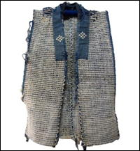 Old Exceptional Cotton Indigo Sakiori Vest