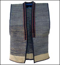 Old Cotton Indigo Sakiori Vest