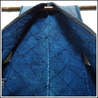 Exceptional Cotton Indigo Kogin Sashiko Farmers Vest