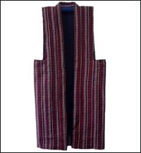 Vintage Stripe Pattern Farmer Vest