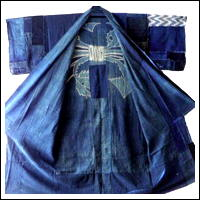 The beauty of Japanese boro is what you dont see Antique Indigo Cotton Yogi