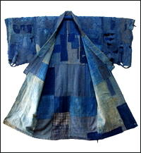 Antique Boro Indigo Cotton Yogi