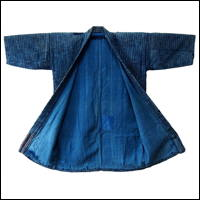 Old Boro Zanshi Indigo Cotton Farmer Handmade Jacket