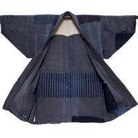 Indigo Cotton Lady Farmers Boro Jacket