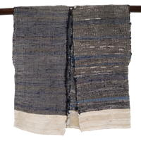 Indigo Cotton Lady Farmers Unfinished Sakiori Vest