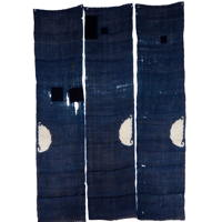Set Of 3 Imperfect Indigo Hemp Textile Panels