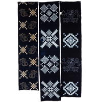 Set Of 3 Imperfect Indigo Cotton Picture Kasuri Textile Panels