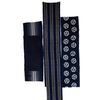 Set Of 3 Imperfect Indigo Cotton Textile Panels