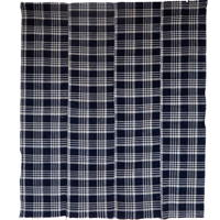 Indigo Check Cotton Textile Futon Cover