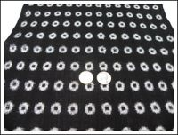 Kasuri White on Black Fabric Panel