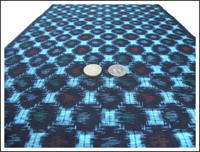 Kasuri Indigo Cotton Fabric Panel