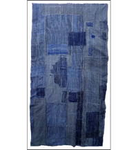 Early Boro Indigo Sashiko Futon Cover