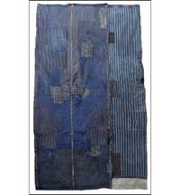 Early Indigo Sashiko Boro Futon Cover
