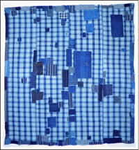 Early Boro Indigo Check Futon Cover