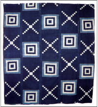 Early Indigo Kasuri Cotton Boro Futon Cover