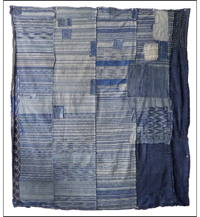 Early Dramatic Indigo Zanshi Boro Futon Cover