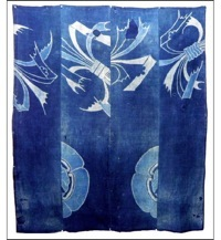 Early Dramatic Tsutsugaki Indigo Boro Futon Cover