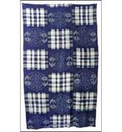 Early Boro Indigo Kasuri Cotton Futon Cover