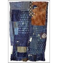 Fragment of Early Boro Indigo Cotton Futon Cover