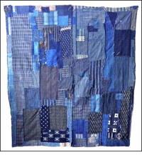 Early Indigo Mixed Fabrics Cotton Boro Futon Cover