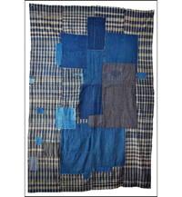 Early Indigo Cotton Zanshi Boro Futon Cover