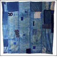 Early Indigo Katazome Cotton Boro Futon Cover