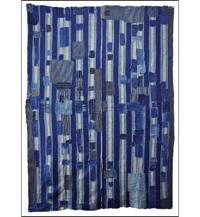 Early Boro Stripe Indigo Futon Cover