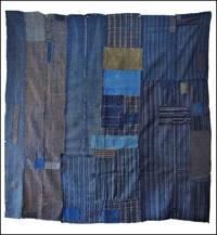 Early Boro Indigo Stripe Futon Cover
